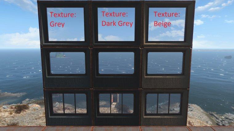 Бетонные стены с оконным стеклом