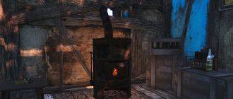 Печка из хлама