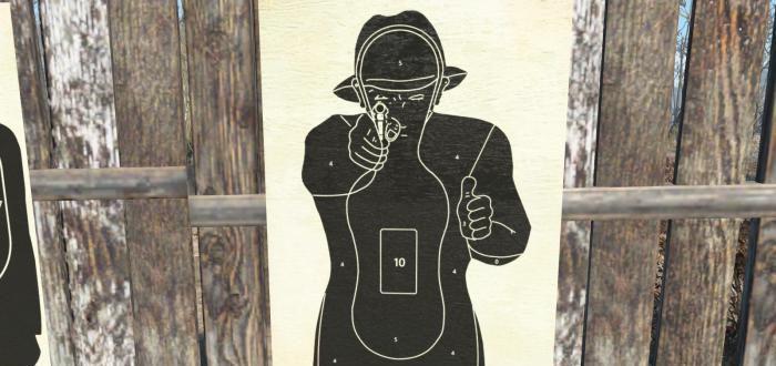 Shooting Target Poster